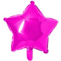 18 IN STAR SHINY HOT PINK FOIL
