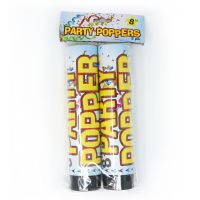 PARTY POPPER 20 CM (2) PACK