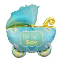 FOIL 27IN BOY BABY CARRIAGE