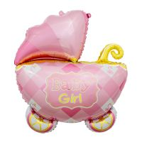 FOIL 27IN GIRL BABY CARRIAGE